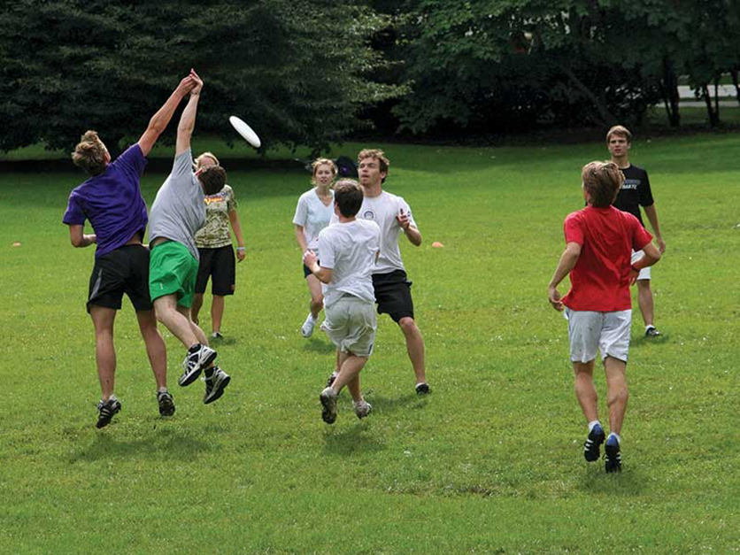 Deering Meadow is a favorite for Frisbee