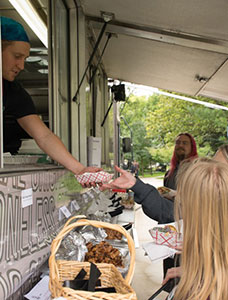 Food truck serving College staff