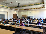 "Students discuss with  four WCAS alumni  their reasons for going to law school, choosing the type of law they practice and how their undergraduate degree prepared them for a career in law in the ""Liberal Arts to Law"" event."