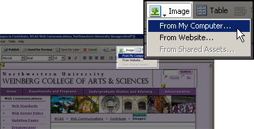 screenshot of how to select image