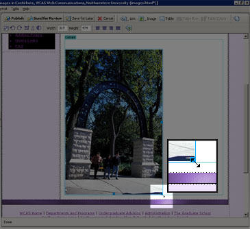 screenshot on resizing images