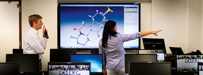 image of two people in the IMSERC lab