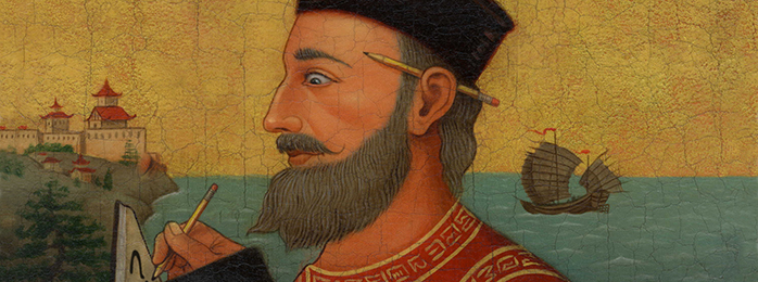 Painting of Marco Polo.