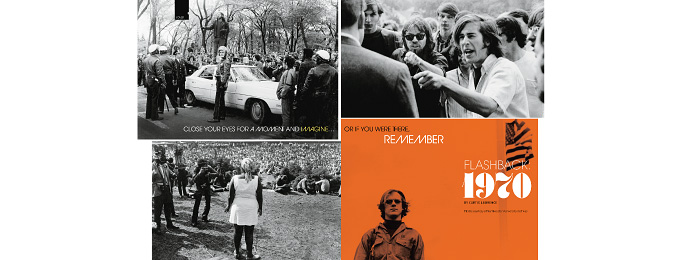 Collage of photographs from the 1970s.