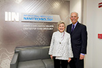 "Helpers of humanity: The center was launched with a $10 million gift from longtime Northwestern supporters Ronald and JoAnne Willens. ""It's our desire to improve, grow and contribute to making the world better,"" JoAnne Willens says. ""We are grateful for that opportunity."""