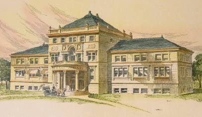 portrait of Lunt Hall